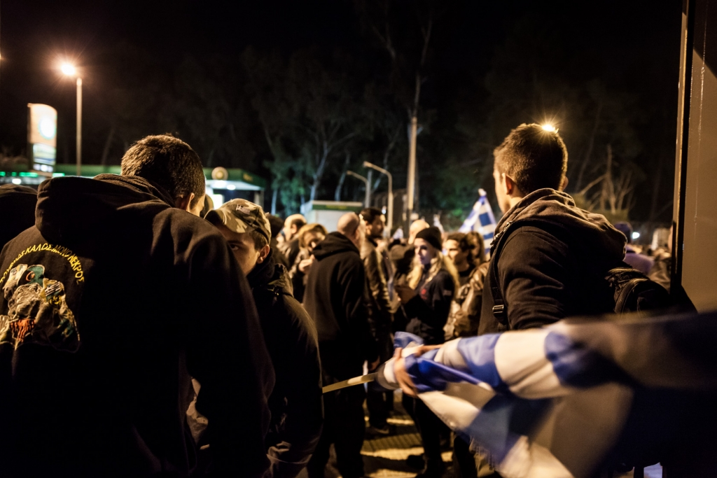 Young members of the Greek ultra nationalist Golden Dawn party.