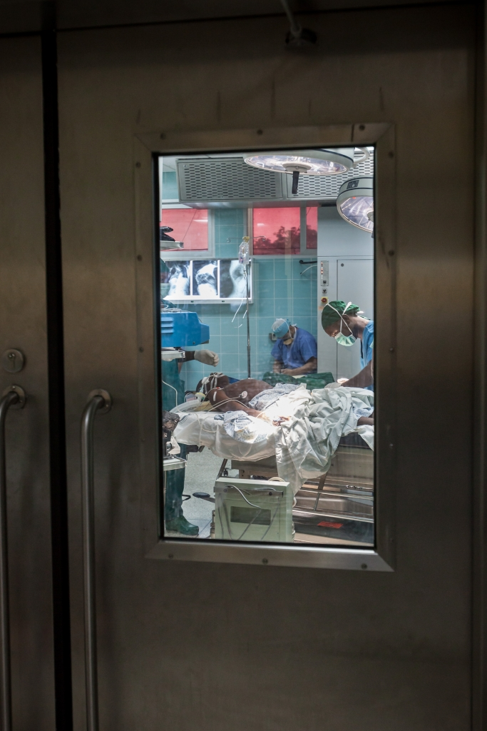 Gbassay Kanu in the operation theatre.