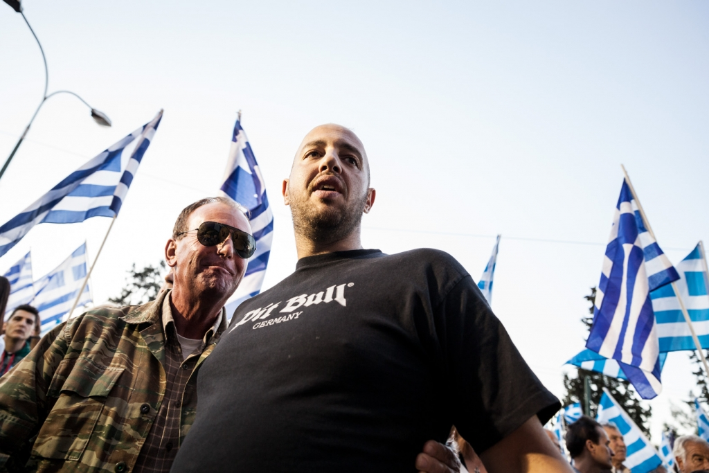 Golden Dawn supporters rally for imprisoned leader's release.